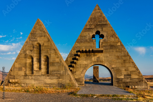 The Gates of Artsakh near Kornidzor in the caucasus mountain landmark of Nagorno-Karabakh Armenia eastern Europe