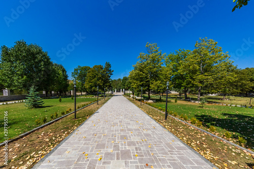 park garden of Shusha landmark of Artsakh Nagorno-Karabakh Armenia eastern Europe