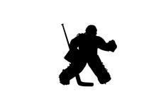 Girl Ice Hockey Goalie