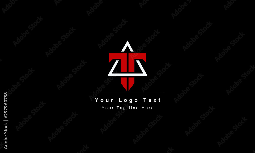 Fototapety, obrazy: Abstract letter T logo design. Creative,Premium Minimal emblem design template. Graphic Alphabet Symbol for Corporate Business Identity. Initial TT vector element