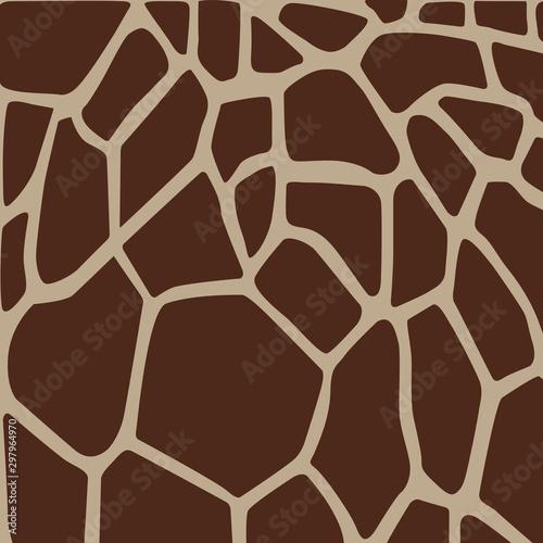 Giraffe animal skin texture, animal background, tribal ornament, Vector illustra Wallpaper Mural