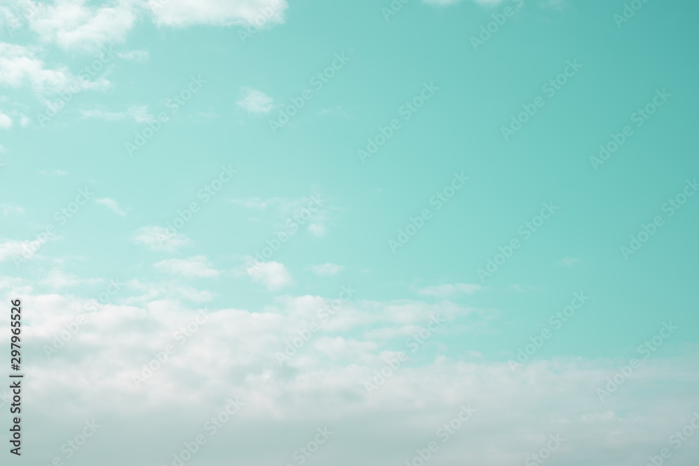 Fototapety, obrazy: sky background white fluffy clouds in calm feeling for fresh air relaxing