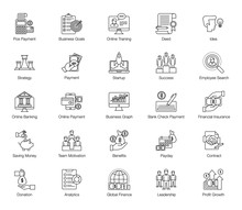 Pack Of Business Line Icons