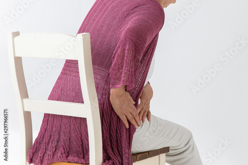 高齢者の女性 Canvas Print