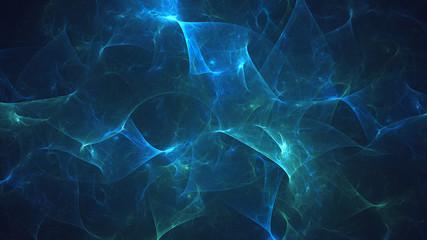 3D rendering abstract blue fractal light background