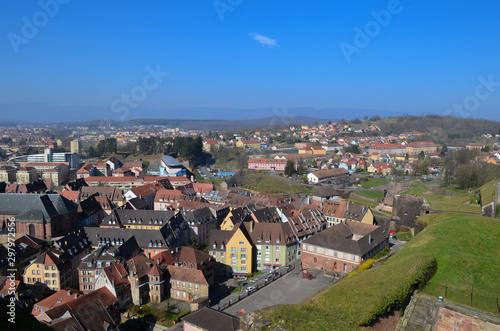 Fotografie, Tablou vue panoramique de la ville de belfort en franche comté, France