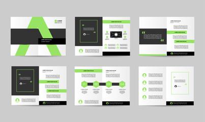 set green creative brochure template design template