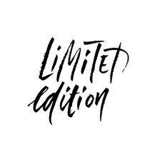 Limited Edition. Ink Handwritt...