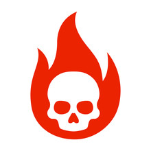 Simple Flaming Skull Or Skull ...