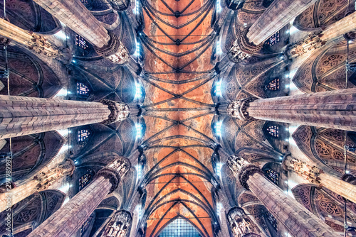 Keuken foto achterwand Oude gebouw Ceiling of the cathedral of Milan, Italy