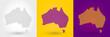Striped map of Australia