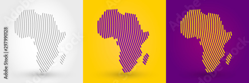 Striped map of Africa