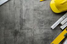 Contractor Concept. Yellow Har...