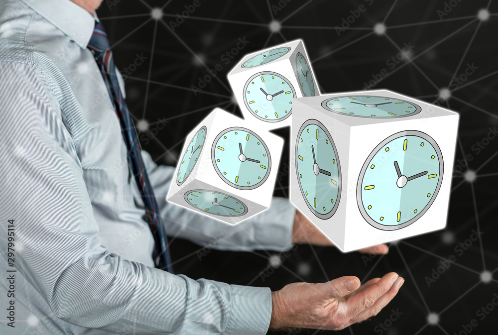 Fototapety, obrazy: Concept of time management