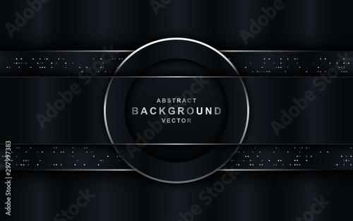 Obraz Abstract navy light dark grey metallic overlap design modern futuristic technology background vector illustration. - fototapety do salonu