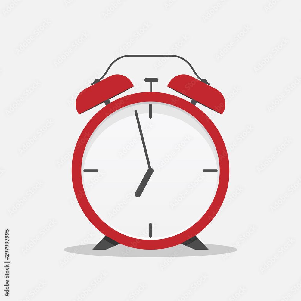 Fototapety, obrazy: Classic alarm clock over white background