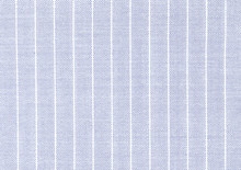 Delicate Light Blue Linen Fabric With Visible Weave Texture. White And Blue Striped Fabric. High Resolution