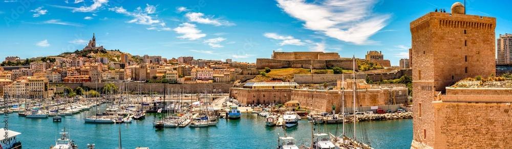 Fototapeta Alter Hafen in Marseille Panorama