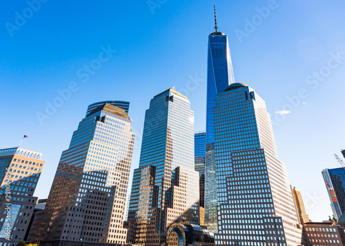 Photo  New York City, USA, One World Trade Center building in the urban
