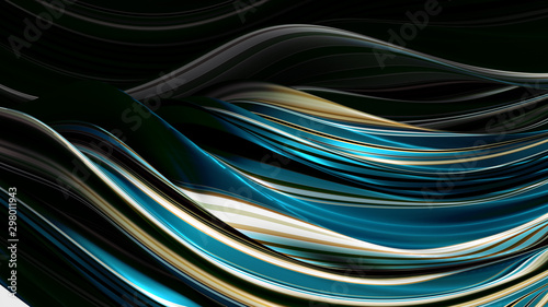 Elegant colored background with lines. 3d illustration, 3d rendering. - 298011943