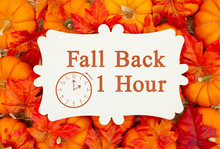 Fall Back 1 Hour Time Change M...