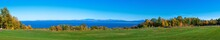 Panoramic View Of Lake Champlain With Vermont State In Background In Late Fall