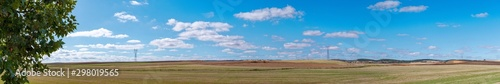 Panoramic view of an autumn scene in the La Mancha region of Spain