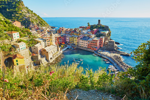 Staande foto Liguria Colorful houses in Vernazza, Italy