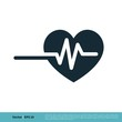 Heartbeat Icon Vector Logo Template Illustration Design. Vector EPS 10.