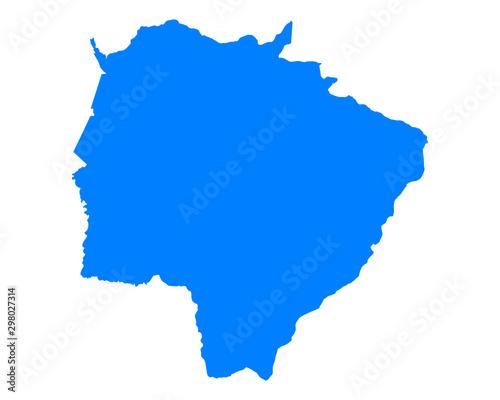 Fotografie, Obraz Karte von Mato Grosso do Sul