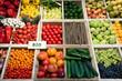 canvas print picture - Markt, Gemüse, Obst, bio