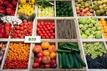 Markt, Gemüse, Obst, bio