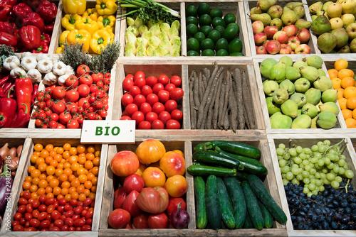 Cuadros en Lienzo Markt, Gemüse, Obst, bio