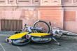 Miet Fahrräder auf dem Bürgersteig, Deutschland