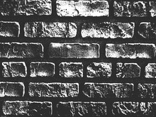 Distress Old Brick Wall Texture. Black And White Grunge Background. Vector Illustration.