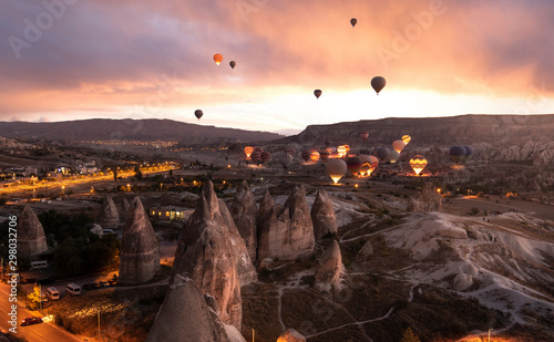 Photo Beautiful scenes in Goreme national park