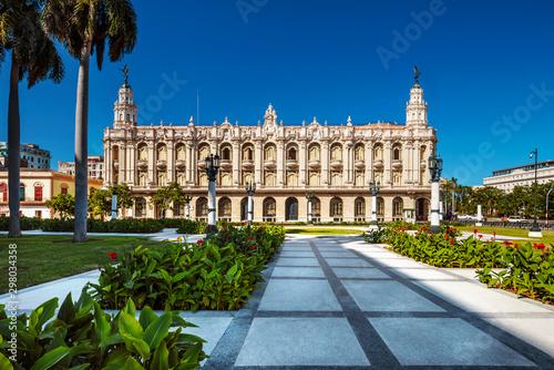 Kuba, Havanna; Das Opernhaus von Havanna,   Gran Teatro de La Habana Canvas Print