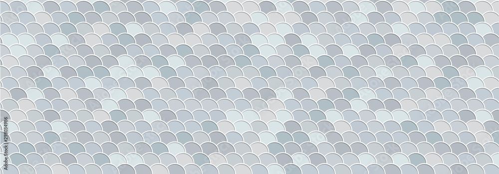 Water waves seamless vector background. Abstract grey backdrop with nautical design. 3d graphic effect.