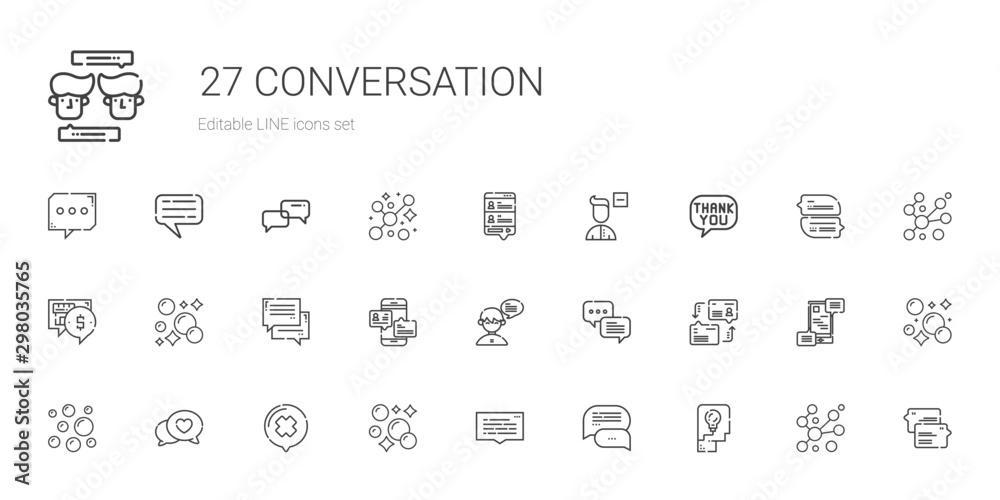 Fototapety, obrazy: conversation icons set