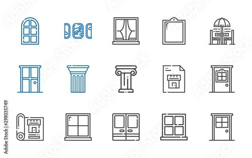 Fototapeta architectural icons set obraz