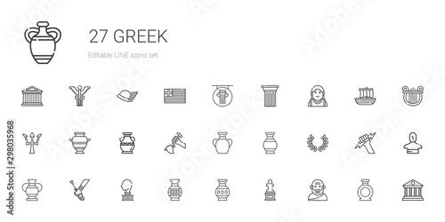 greek icons set Tablou Canvas
