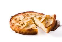 Homemade Slice Apple Pie Isola...