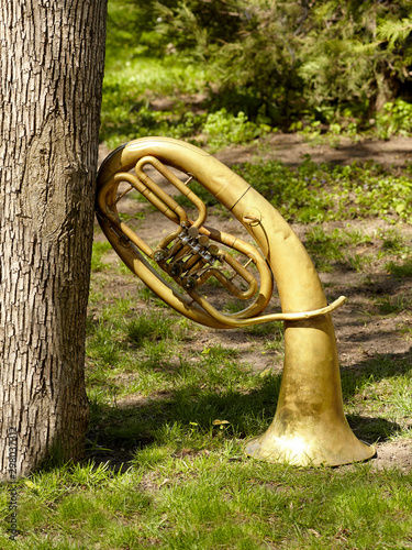 Photo A baritone wind musical instrument