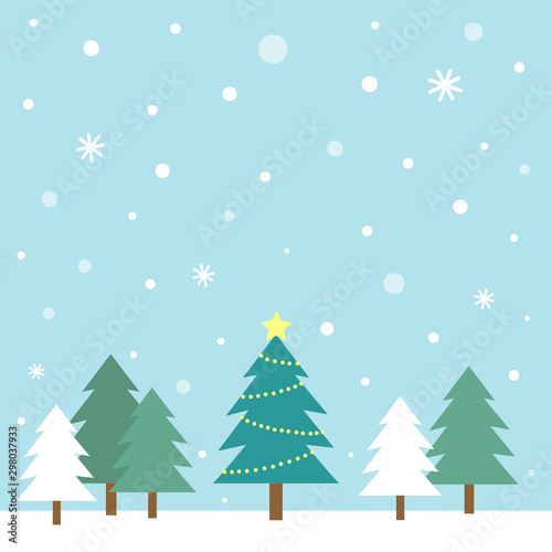 Printed kitchen splashbacks Light blue Winter trees and snowy landscape