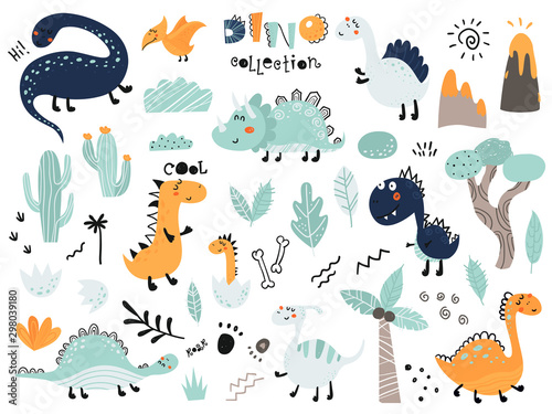 set-of-cute-dinosauts-foliage