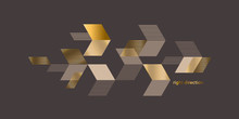 Dynamic Luxury Gold And Beige Abstract Composition