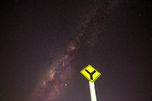 Sky And Traffic Signs At Night...