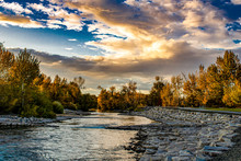 Boise River At Sunset