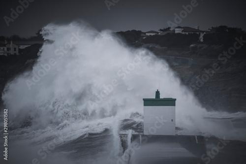 Cuadros en Lienzo Tempête, vagues puissantes, grosse houle, submersion