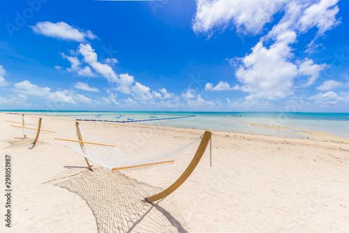 小浜島のビーチ Fototapet